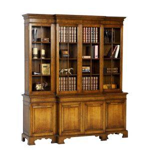 Wooden Bookcase - Solid Oak Bookcases & Bookshelves - Tudor Oak, UK