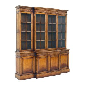 Carved Oak Bookcase - Solid Oak Bookcases & Bookshelves - Tudor Oak