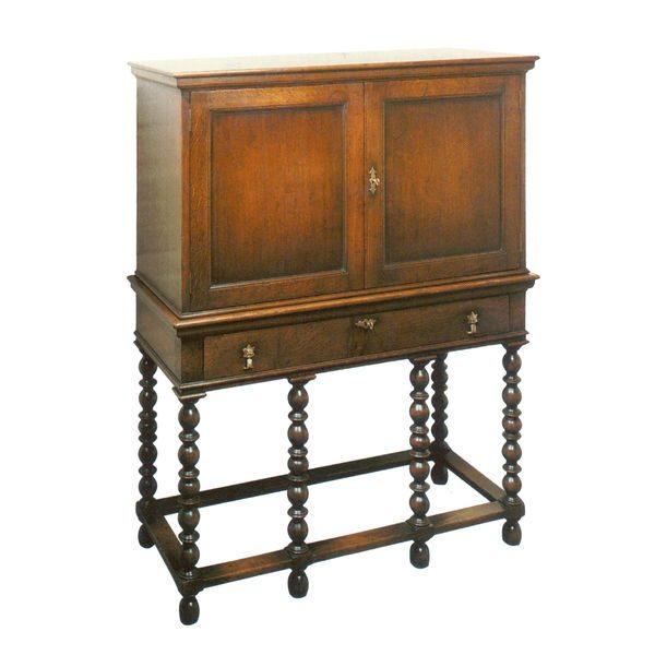 Cupboard with Shelves - Solid Oak Dressers & Cupboards - Tudor Oak, UK