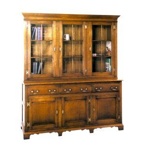 Bookcase with Cupboard - Solid Oak Bookcases & Bookshelves - Tudor Oak