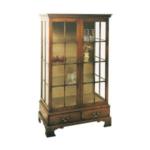 Wooden Display Cabinet - Oak Wine & Display Cabinets - Tudor Oak, UK