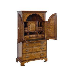 Desk Bureau with Drawers - Solid Oak Writing Bureau Desks - Tudor Oak