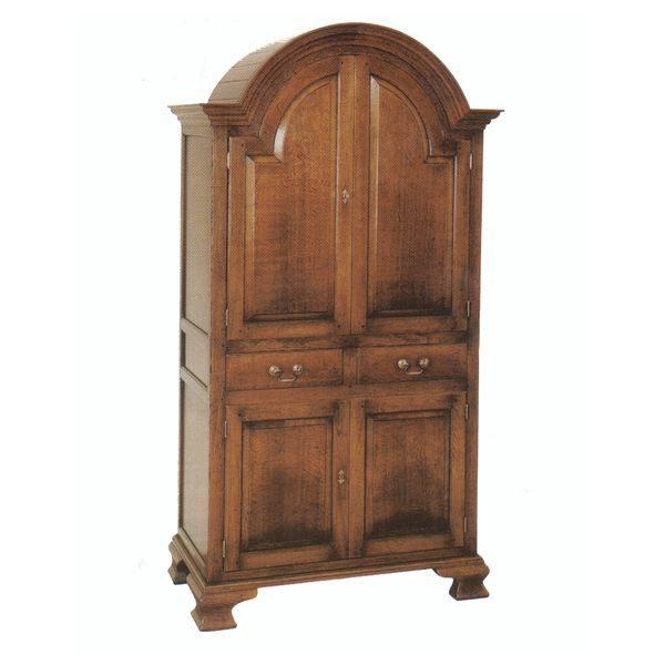 Solid Oak Drinks Cabinet - Oak Display & Wine Cabinets - Tudor Oak, UK