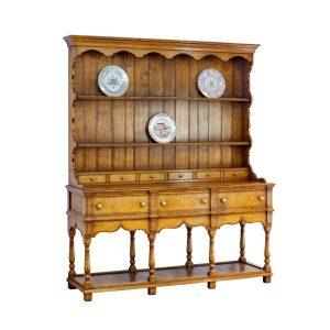 Oak Welsh Dresser - Solid Wood Dressers & Cupboards - Tudor Oak, UK