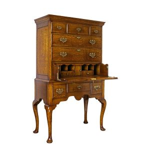 Writing Bureau Desk - Solid Oak Writing Bureau Desks - Tudor Oak, UK