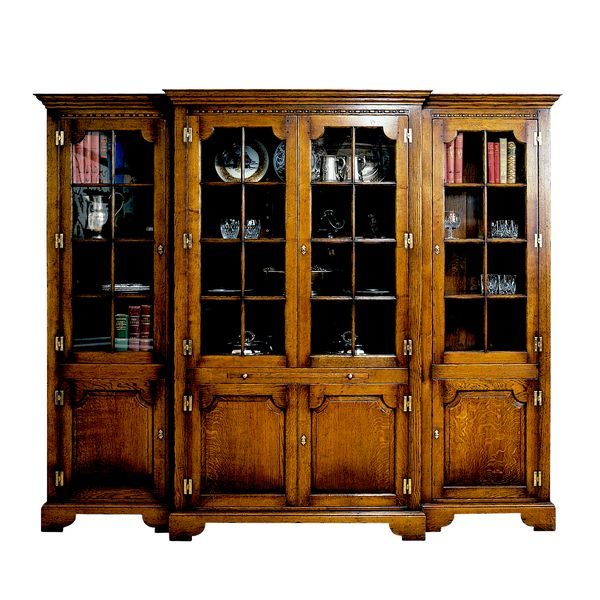 Large Bookcase - Solid Oak Bookcases & Bookshelves - Tudor Oak, UK