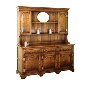 Large Dresser - Solid Oak Dressers & Cupboards - Tudor Oak, UK