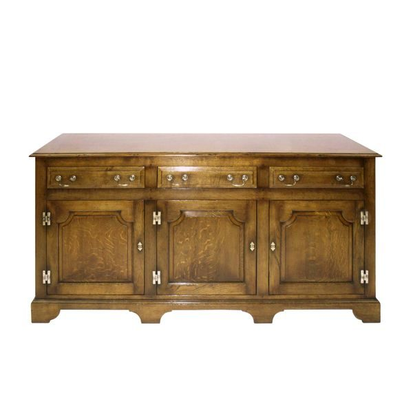Solid Wood 3 Door Sideboard - Solid Oak Sideboards - Tudor Oak, UK