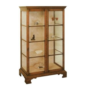 Display Cabinet with Glass Doors - Oak Display Cabinets - Tudor Oak UK