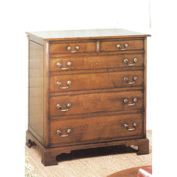 6 Drawer Chest of Drawers - Solid Oak Chests of Drawers - Tudor Oak UK