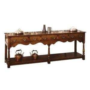 Solid Wood Extra Long Sideboard - Solid Oak Sideboards - Tudor Oak, UK