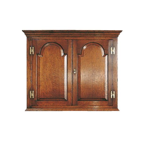 Oak Wall Cupboard - Solid Wood Dressers & Cupboards - Tudor Oak, UK