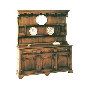 Oak Dresser Unit - Solid Wood Dressers & Cupboards - Tudor Oak, UK