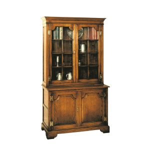Narrow Oak Bookcase - Solid Oak Bookcases & Bookshelves - Tudor Oak