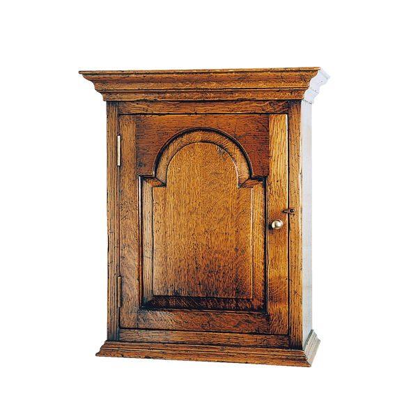 Wall Cabinet with Door - Oak Dressers & Cupboards - Tudor Oak, UK