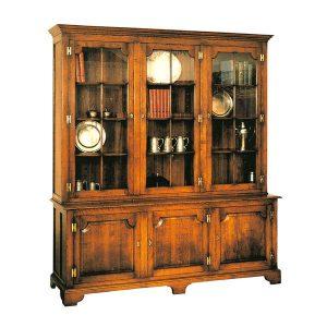 Large Display Cabinet - Solid Oak Dressers & Cupboards - Tudor Oak, UK