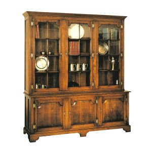Large Oak Bookcase - Solid Oak Bookcases, Bookshelves - Tudor Oak UK