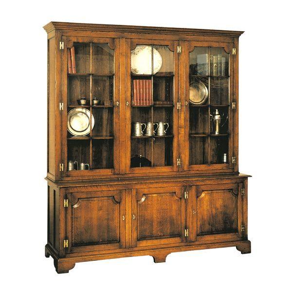 Large Oak Bookcase - Solid Oak Bookcases, Bookshelves - Tudor Oak UK