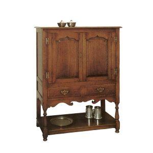 TV Cabinet with Doors - Oak TV Cabinets & Media Units - Tudor Oak, UK