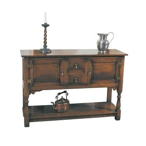 Small Oak Sideboard - Solid Wood Sideboards - Tudor Oak, UK