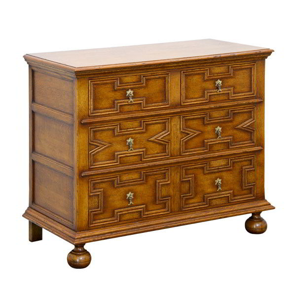 Oak Chest of Drawers - Solid Oak Chests of Drawers - Tudor Oak, UK
