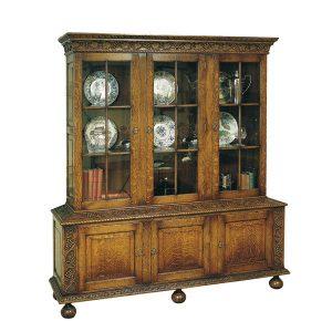 Oak China Cabinet - Solid Wood Dressers & Cupboards - Tudor Oak, UK