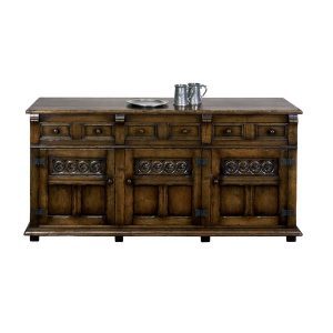 Distressed Sideboard - Solid Oak Sideboards - Tudor Oak, UK