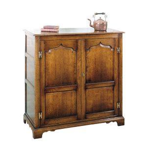 Oak Storage Cupboard - Solid Wood Dressers & Cupboards - Tudor Oak, UK
