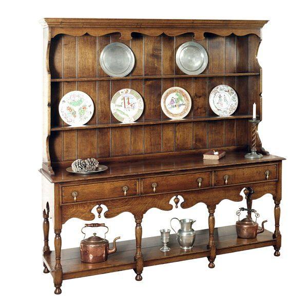 Solid Oak Welsh Dresser - Wooden Dressers & Cupboards - Tudor Oak, UK