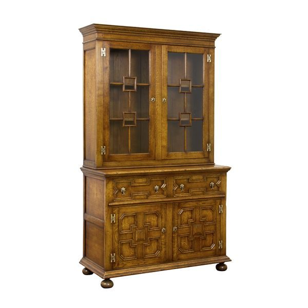 Bookcase with Drawers - Solid Oak Bookcases & Bookshelves - Tudor Oak