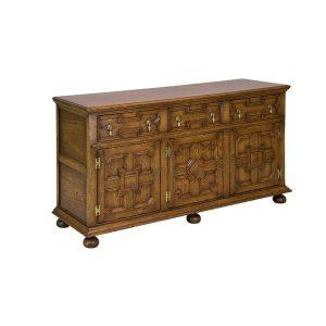 Oak Sideboard for Dining Room - Solid Wood Sideboards - Tudor Oak, UK