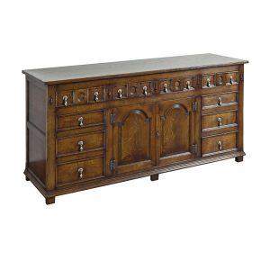 Oak Multi Drawer Sideboard - Solid Wood Sideboards - Tudor Oak, UK