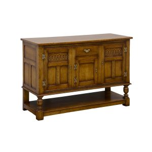 English Oak Sideboard Buffet - Solid Wood Sideboards - Tudor Oak, UK