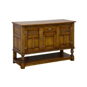 English Oak Sideboard Buffet - Solid Wood Sideboards - Tudor Oak, UK