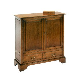 Small Cupboard - Solid Oak Dressers & Cupboards - Tudor Oak, UK