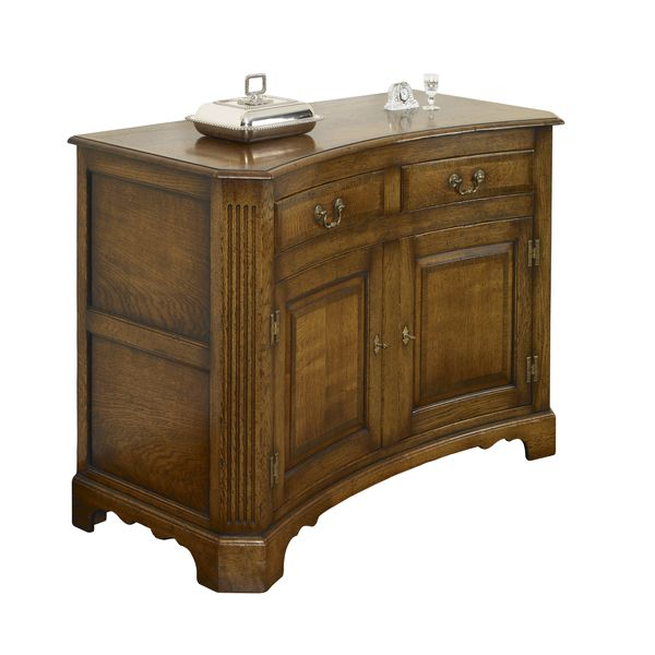 Curved Sideboard With Storage Solid Oak Sideboards