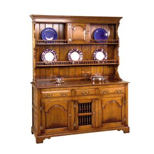 Oak Kitchen Dresser - Solid Wood Dressers & Cupboards - Tudor Oak, UK