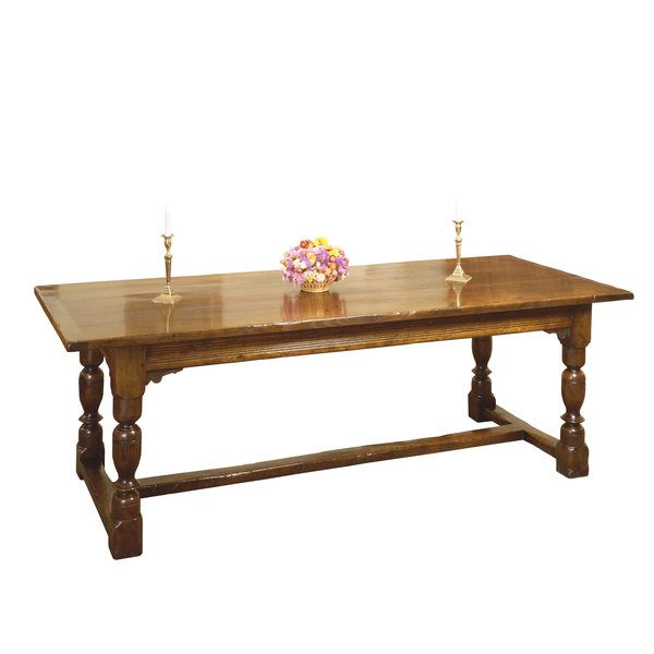 Distressed Dining Table - Solid Oak Dining Tables - Tudor Oak, UK