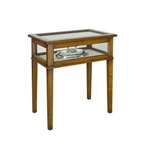 Wooden Display Case Table - Oak Wine & Display Cabinets - Tudor Oak UK