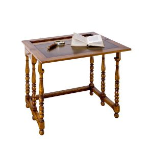 Writing Desk for Small Space - Solid Oak Writing Desks - Tudor Oak, UK