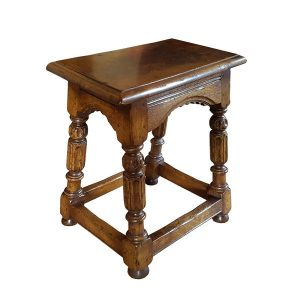 Small Wooden Stool - Oak Benches, Settles & Stools - Tudor Oak, UK