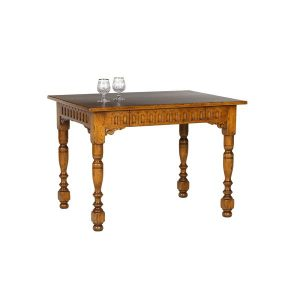 Carved Small Dining Table - Solid Oak Dining Tables - Tudor Oak, UK