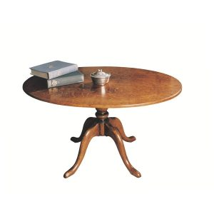 Classic Oval Coffee Table - Solid Oak Coffee Tables - Tudor Oak, UK