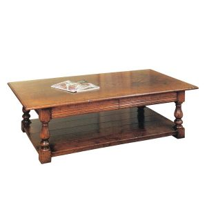 Wooden Coffee Table with Drawers - Oak Coffee Tables - Tudor Oak, UK