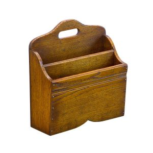 Wooden Magazine Holder - Solid Oak Magazine Racks - Tudor Oak, UK