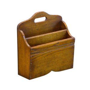 Wooden Magazine Holder - Solid Oak Magazine Racks - Tudor Oak, UK