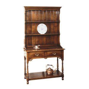Small Kitchen Dresser - Solid Oak Dressers & Cupboards - Tudor Oak, UK