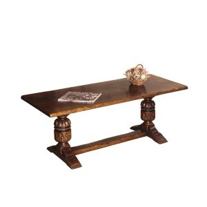 English Oak Narrow Coffee Table - Oak Coffee Tables - Tudor Oak, UK