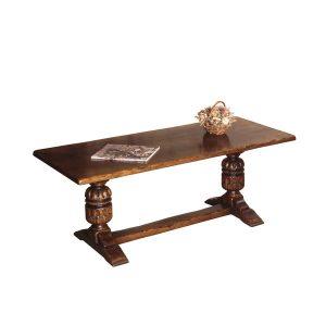 English Oak Narrow Coffee Table - Oak Coffee Tables - Tudor Oak, UK