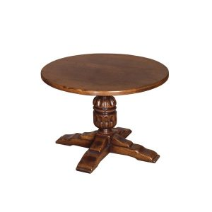 Round Oak Coffee Table - Solid Oak Coffee Tables - Tudor Oak, UK